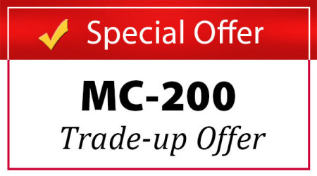 Graphic for the MotoChello MC-200 audio system tradeup offer of 2015