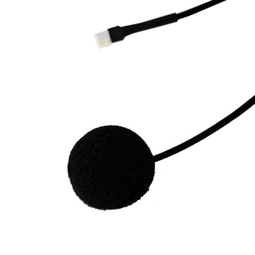 photo of the MotoChello button microphone for closed helmets