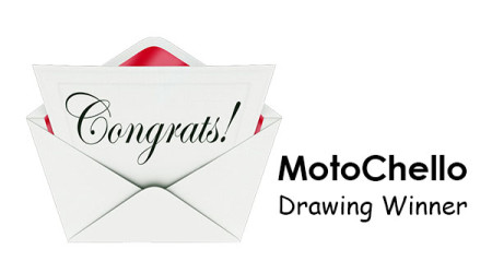 Graphic for the MotoChello subscriber drawing winner post