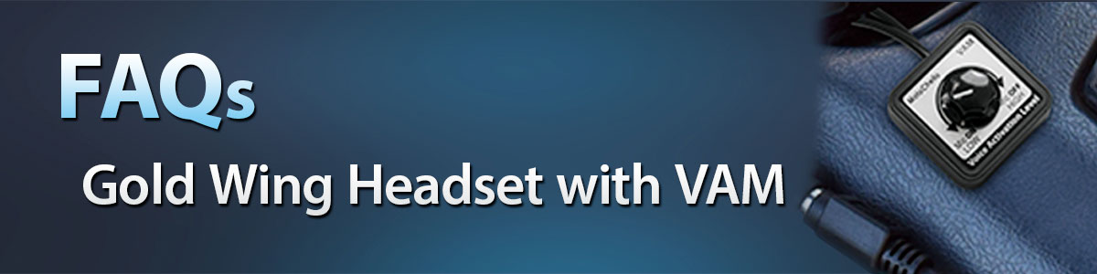 FAQ page banner for Gold Wing Headset with VAM Control