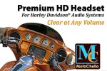 Helmet headset for Harley-Davidson 7-pin audio systems