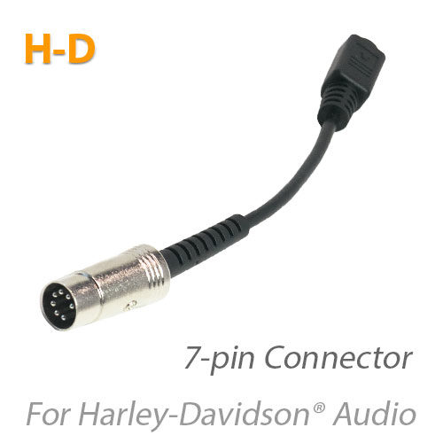 Photo of the MotoChello 7-pin adapter for Harley-Davidson Headsets
