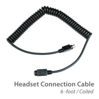 photo of the coiled headset connection cable