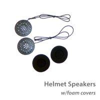 photo of MotoChello helmet speakers with foam cover