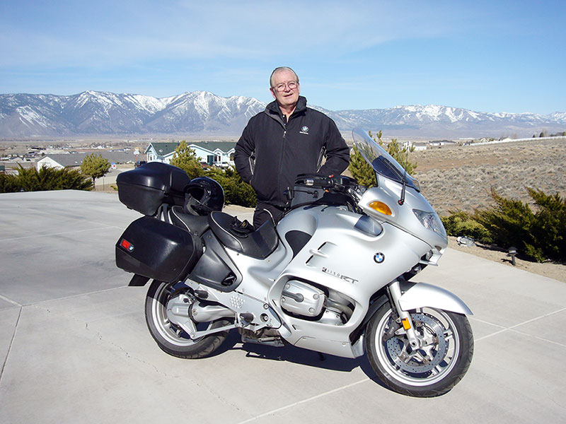 photo of John with BMW RT1150
