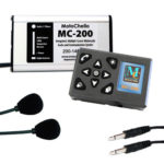 Product photo of the MotoChello MC-200 motorcycle audio system for 2-Up Riders