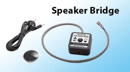 Photo of the MotoChello audio speaker bridge