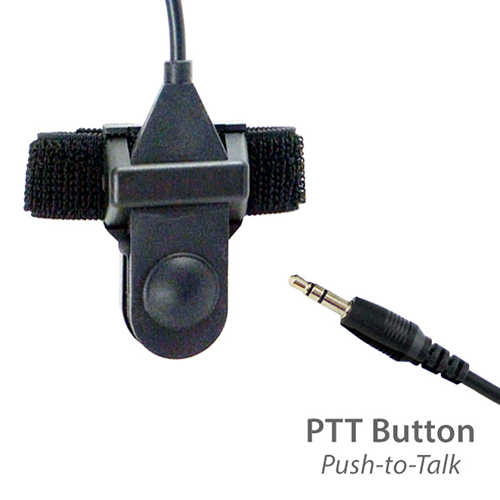 photo of the two-way radio push-to-talk button